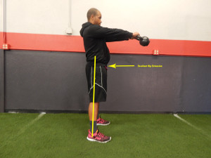Kettle bell swing for running